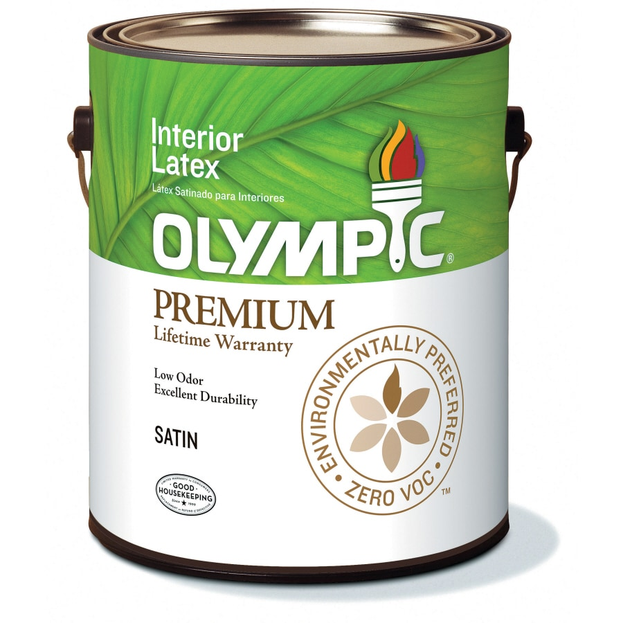 Olympic White Soft-Gloss Latex Interior Paint (Actual Net Contents: 114-fl oz)