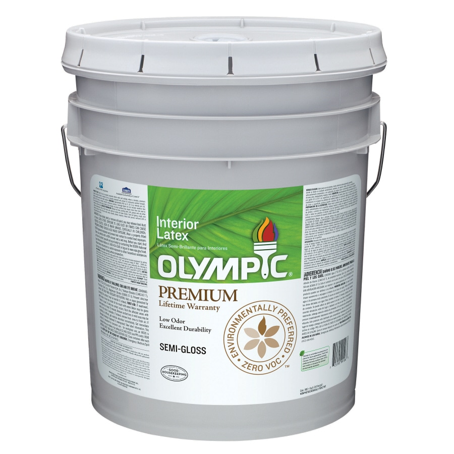 Olympic Ultra White Semi-Gloss Latex Interior Paint (Actual Net Contents: 619-fl oz)