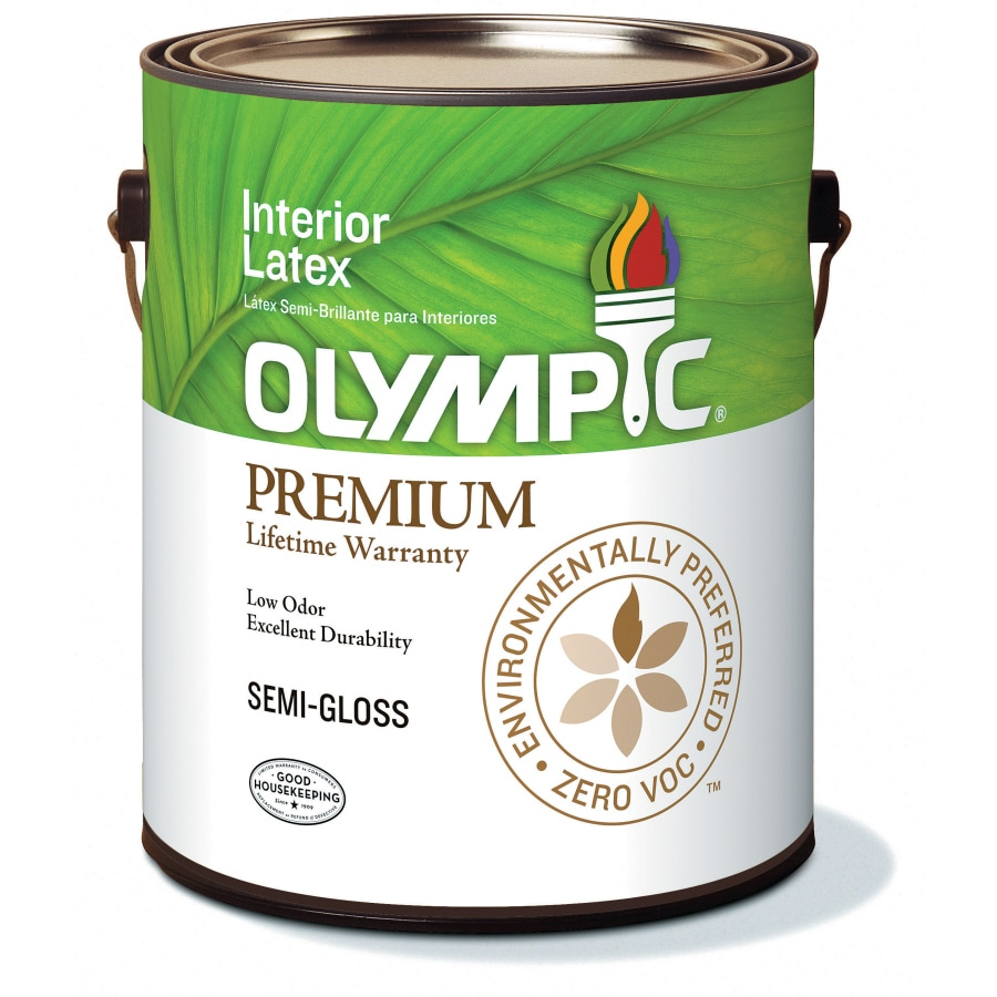 Olympic White Semi-Gloss Latex Interior Paint (Actual Net Contents: 116-fl oz)