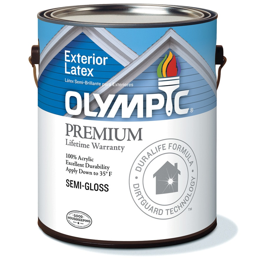 Olympic White Semi-Gloss Latex Exterior Paint (Actual Net Contents: 28-fl oz)