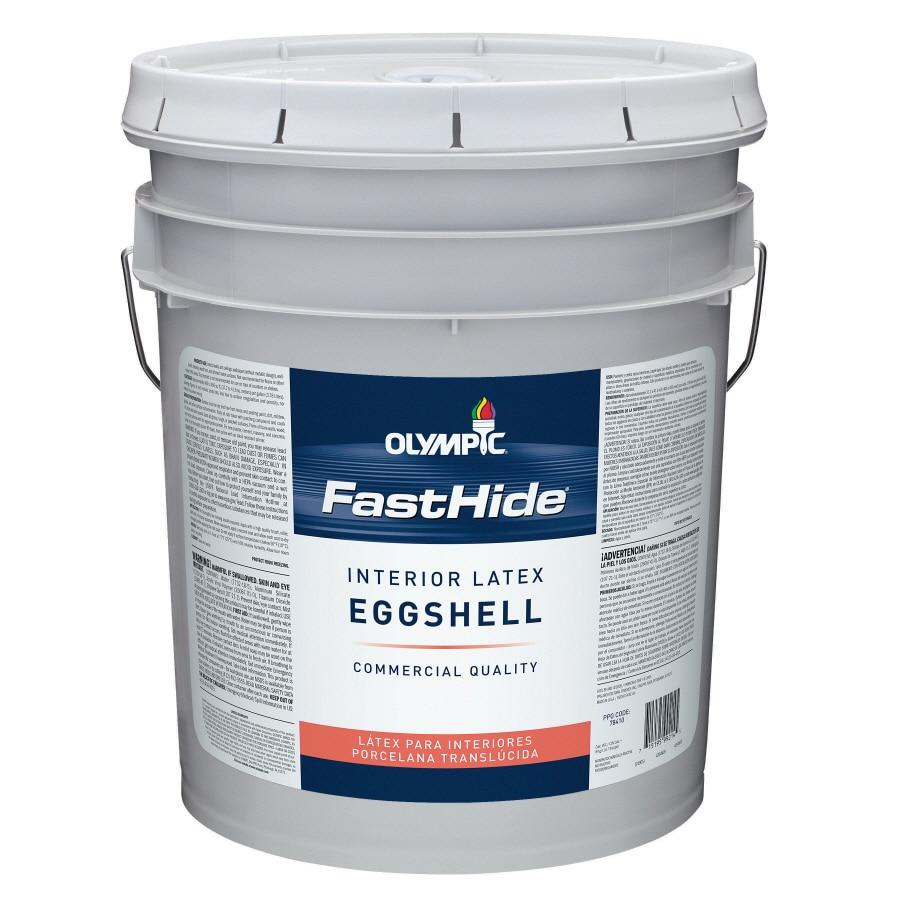 FastHide 5-Gallon Interior Eggshell White Latex-Base Paint