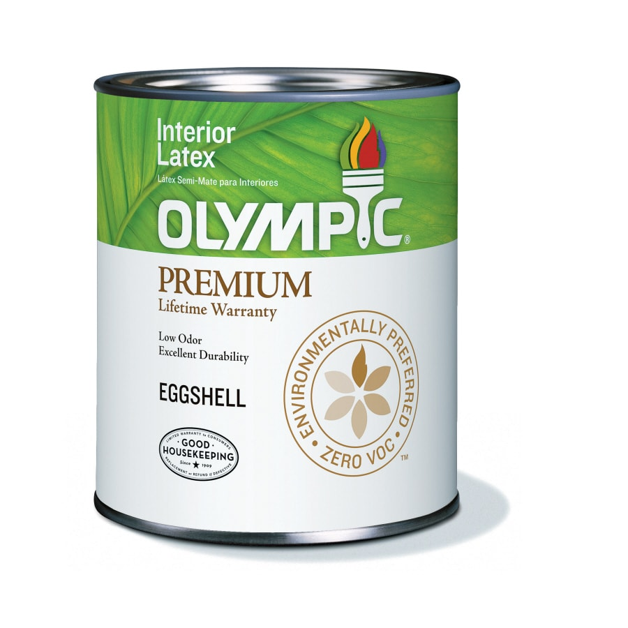 Olympic Ultra White Eggshell Latex Interior Paint (Actual Net Contents: 31-fl oz)