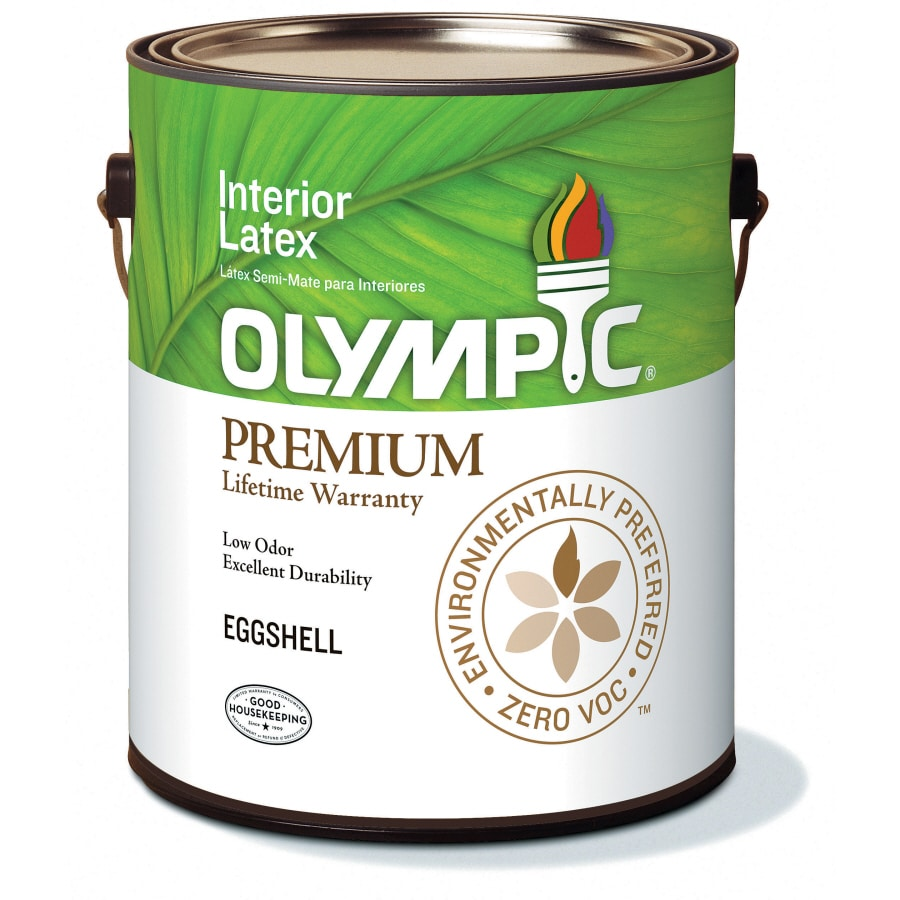 Olympic White Eggshell Latex Interior Paint (Actual Net Contents: 116-fl oz)