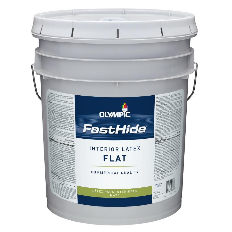 FastHide 5-Gallon Interior Flat White Latex-Base Paint