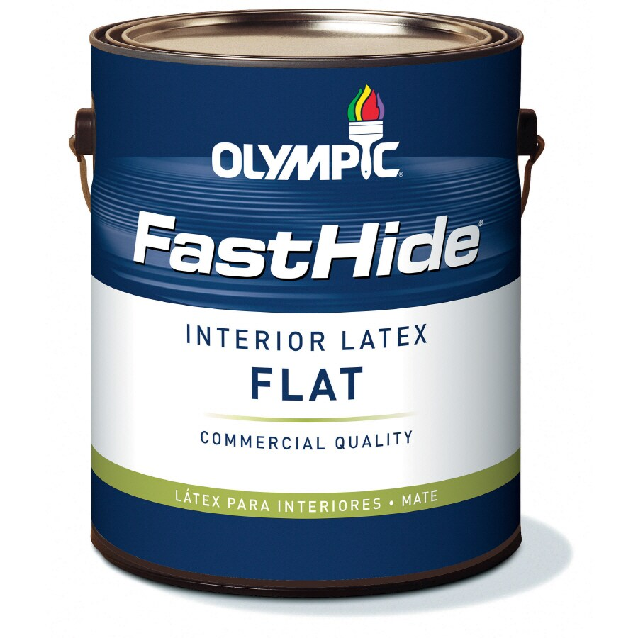 FastHide 1-Gallon Interior Flat Off White Latex-Base Paint