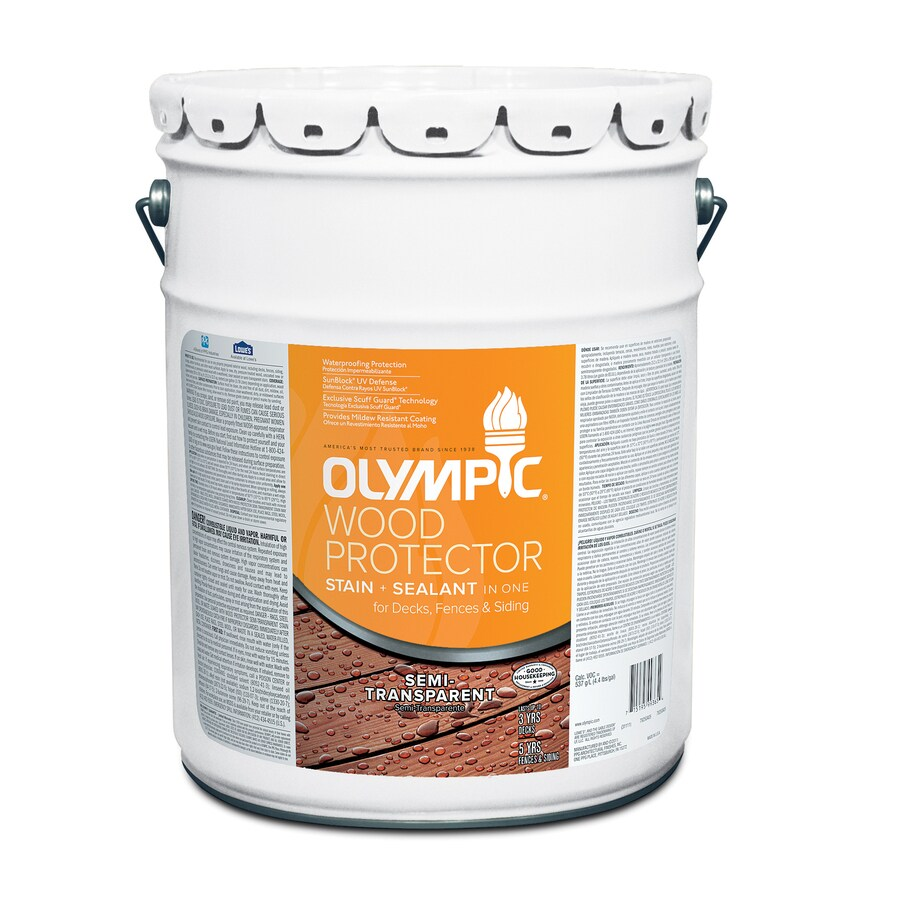 Olympic 5- Gallon(S) Multiple Semi-Transparent Exterior Stain