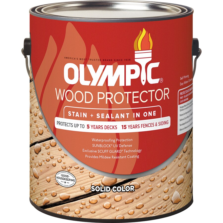 Olympic WOOD PROTECTOR Tintable Base 2 (Must Be Tinted) Solid Exterior Stain (Actual Net Contents: 114-fl oz)