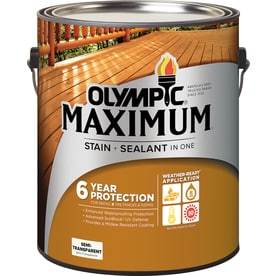 Olympic MAXIMUM Pre Tinted Semi Transparent Exterior Stain (Actual Net  Contents: 128