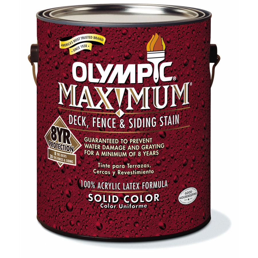 Shop Olympic 1-Gallon Navajo Red Solid Exterior Stain at Lowes.com
