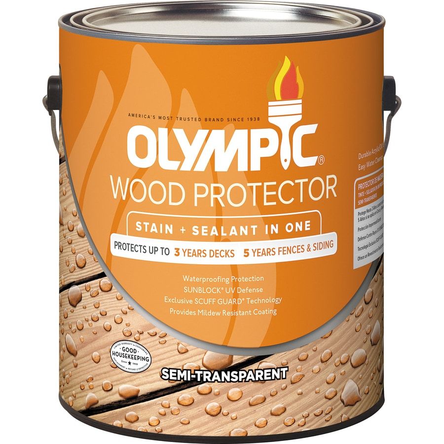 Olympic Wood Protector Neutral Base Semi-Transparent Exterior Stain (Actual Net Contents: 120-fl oz)