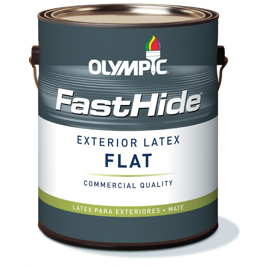 FastHide 1-Gallon Exterior Flat Multi Latex-Base Paint
