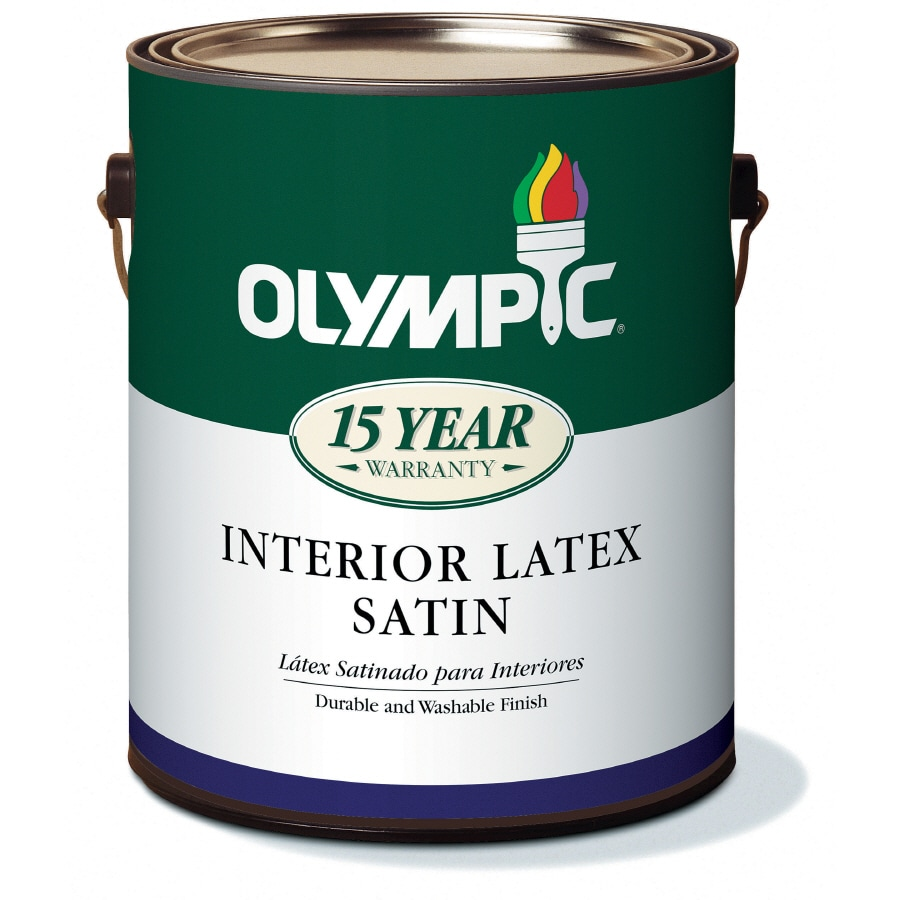 Olympic 1-Gallon Interior Satin White Latex-Base Paint