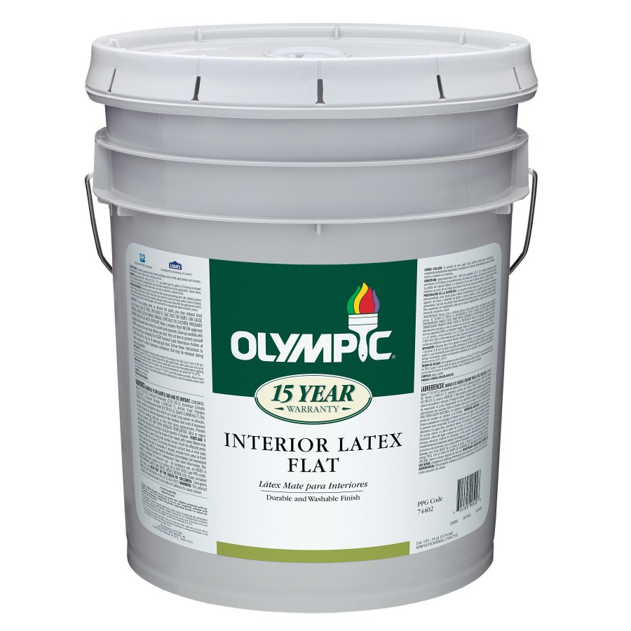 Shop Olympic 5 Gallon Interior Ceiling Ceiling White Latex Base Paint At