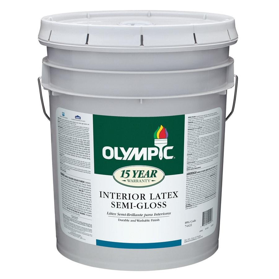 Olympic 5-Gallon Interior Semi-Gloss White Latex-Base Paint