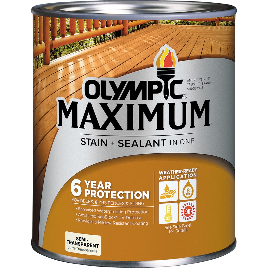 Olympic MAXIMUM Tintable Neutral Base Semi Transparent Exterior Stain  (Actual Net Contents: 30