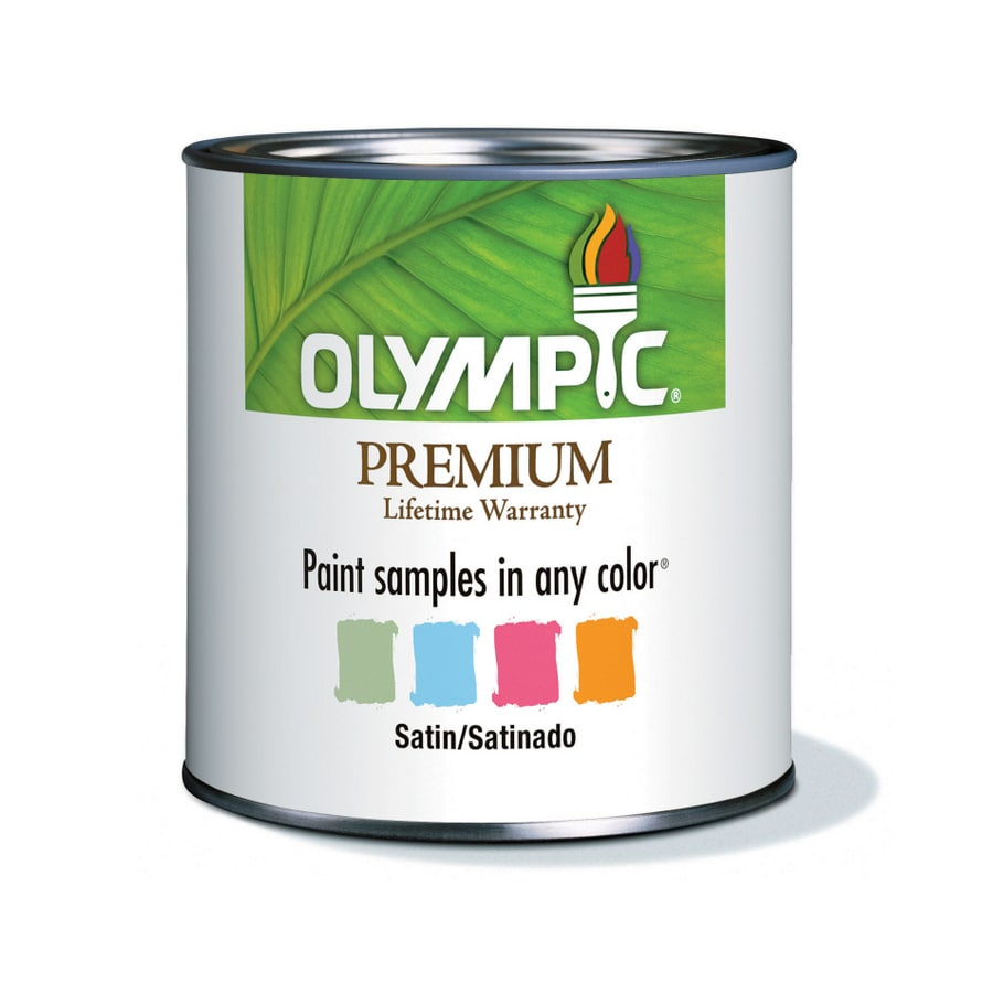 Olympic 8-oz Ultra White Satin Paint Sample