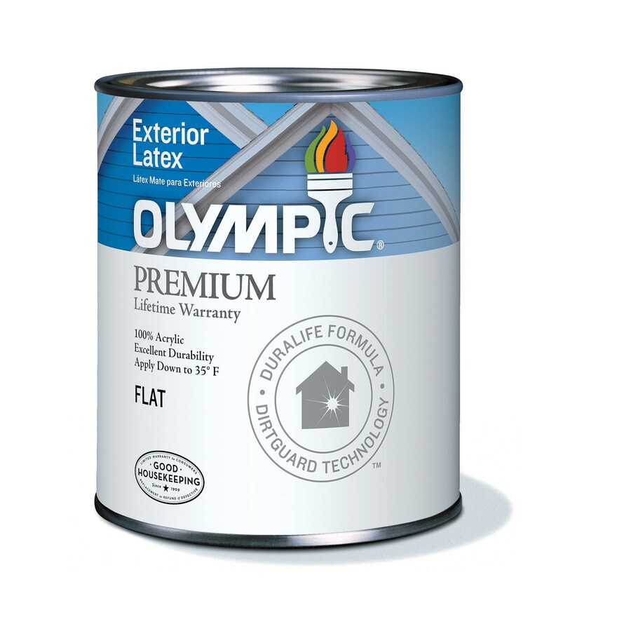 Olympic White Flat Latex Exterior Paint (Actual Net Contents: 29-fl oz)