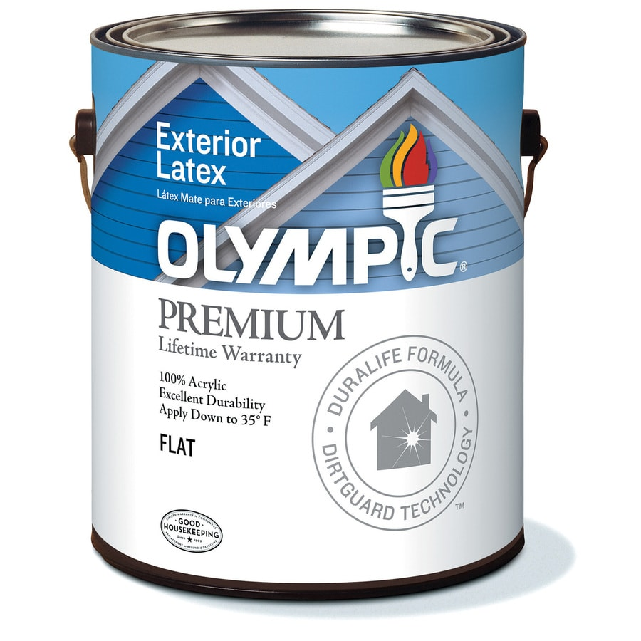 Olympic White Flat Latex Exterior Paint (Actual Net Contents: 114-fl oz)