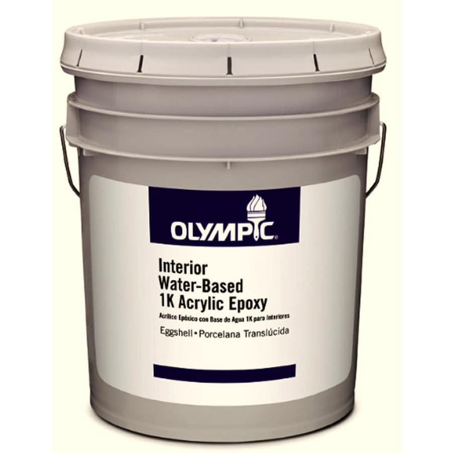 Olympic White Eggshell Latex Interior Paint (Actual Net Contents: 589-fl oz)