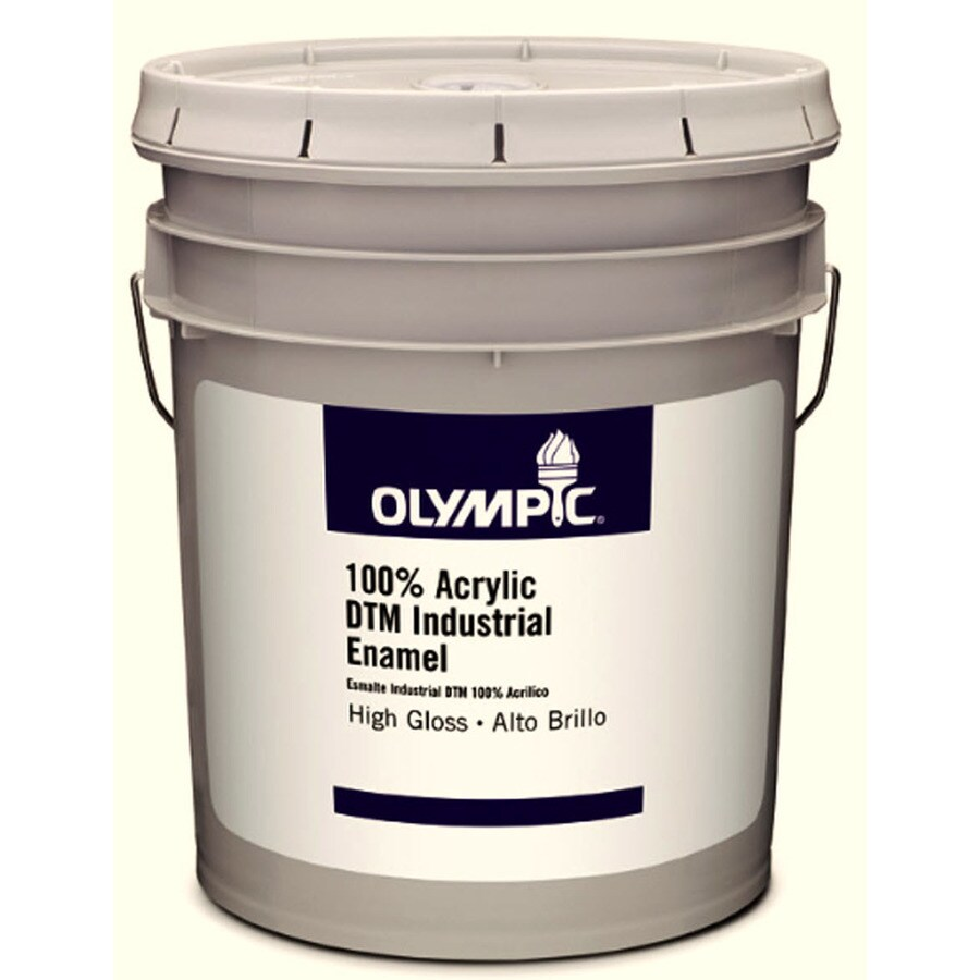 Olympic White Gloss Latex Interior/Exterior Paint (Actual Net Contents: 619-fl oz)