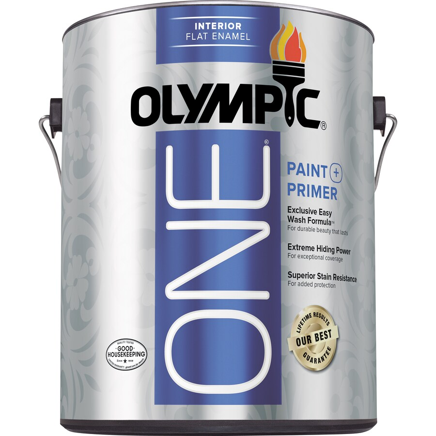 Olympic ONE One Tintable Flat Latex Enamel Interior Paint and Primer In One Paint (Actual Net Contents: 114-fl oz)