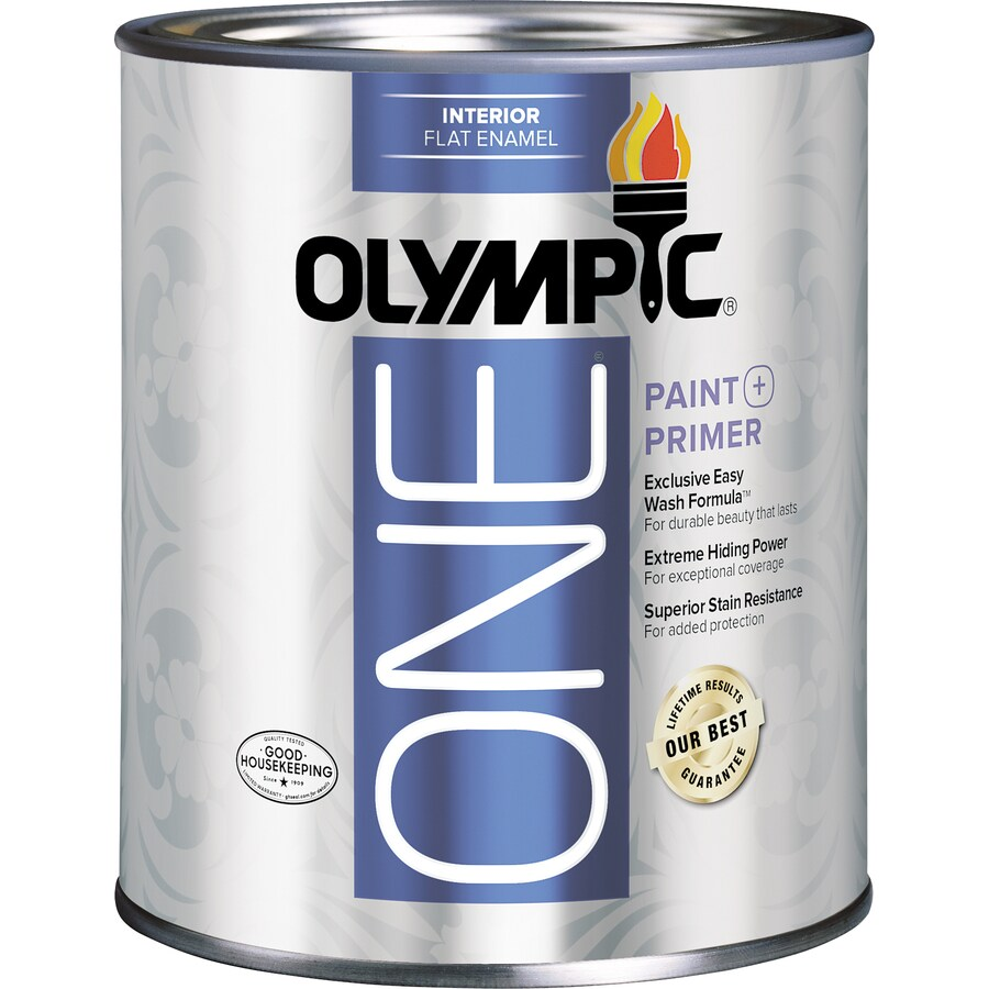 Shop Olympic One Tintable Flat Latex Enamel Interior Paint And Primer In One Actual Net
