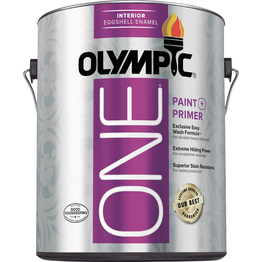 Olympic ONE ONE Tintable Eggshell Latex Enamel Interior Paint and Primer In ONE Paint (Actual Net Contents: 124-fl oz)