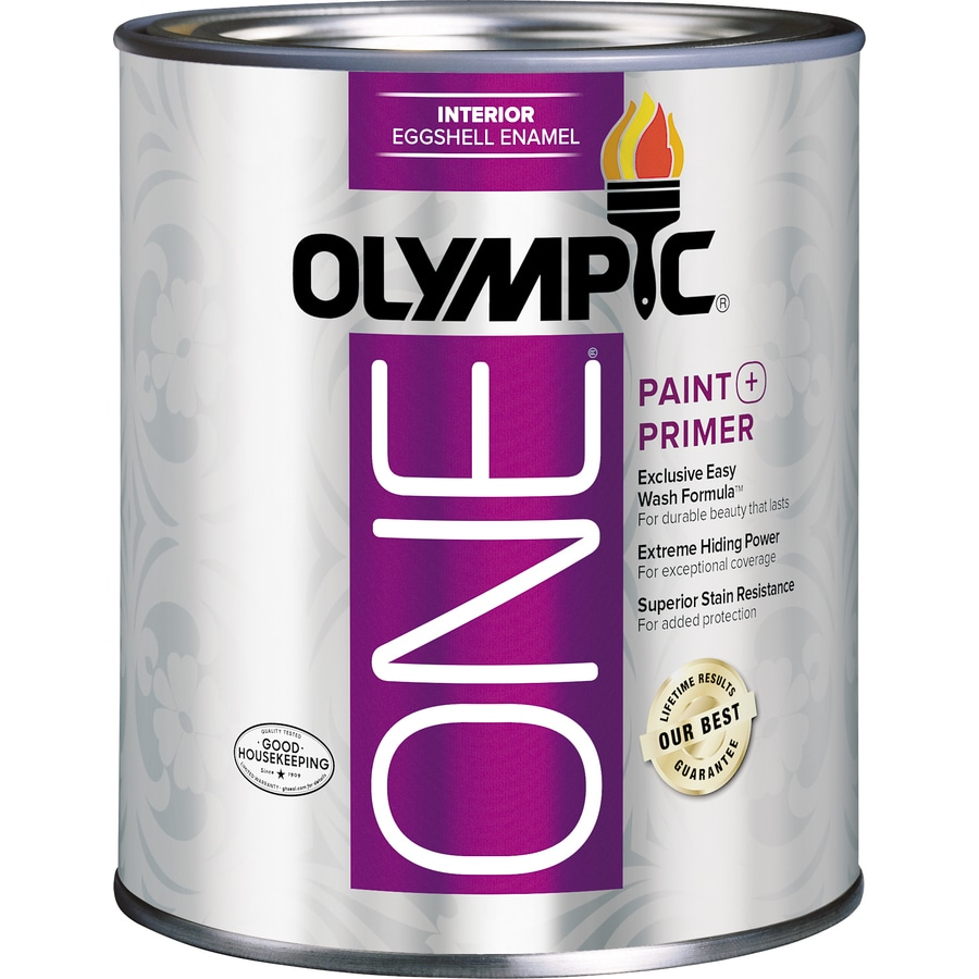 Olympic One Tintable Eggshell Latex Enamel Interior Paint and Primer in One (Actual Net Contents 31-fl oz)  sc 1 st  Loweu0027s : best interior paint primer - zebratimes.com
