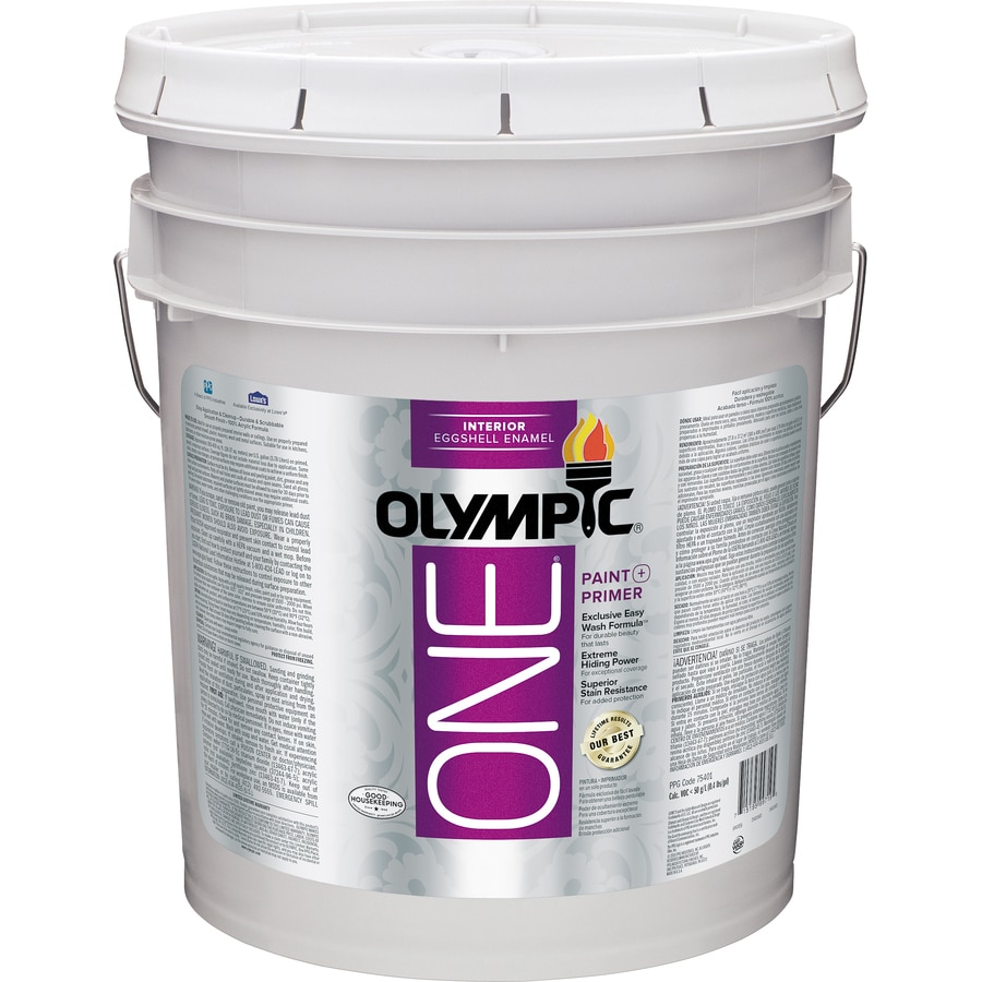 Shop Olympic One Tintable Eggshell Latex Enamel Interior Paint And Primer In One Actual Net