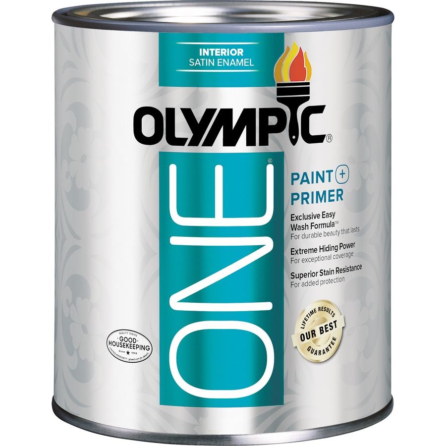 Olympic ONE ONE Tintable Satin Latex Enamel Interior Paint and Primer In ONE Paint (Actual Net Contents: 29.5-fl oz)