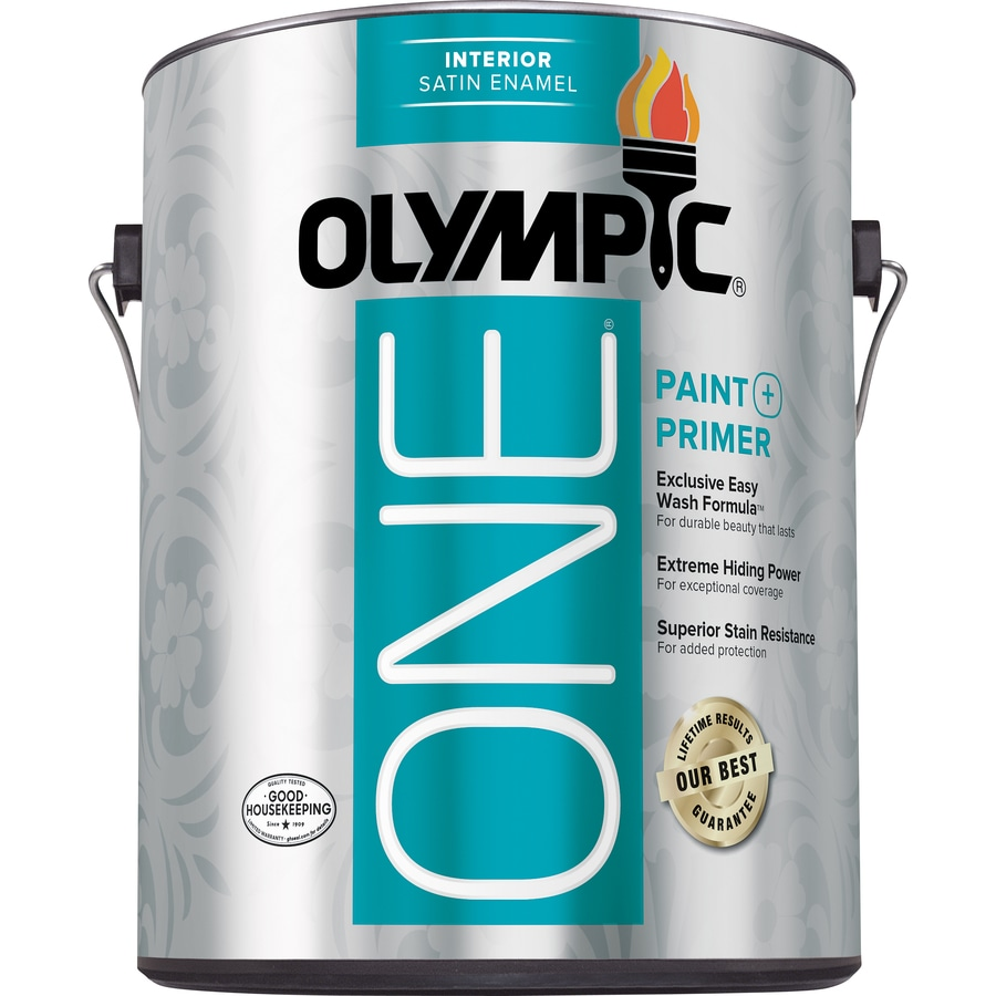 Olympic One Tintable Satin Latex Enamel Interior Paint and Primer in One (Actual Net Contents: 114-fl oz)