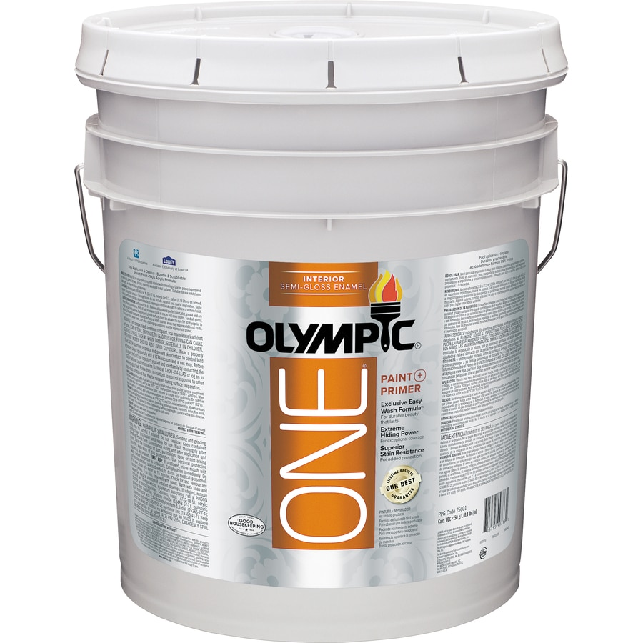Olympic ONE One Tintable Semi-Gloss Latex Enamel Interior Paint and Primer In One Paint (Actual Net Contents: 620-fl oz)