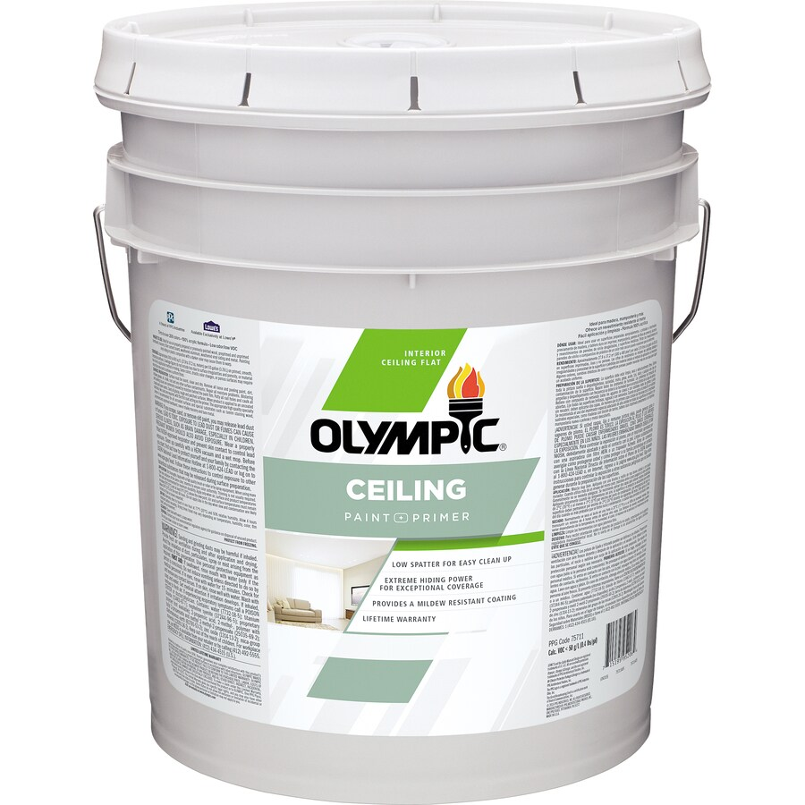 Olympic ONE Ceiling Tintable Flat Latex Interior Paint and Primer in One (Actual Net Contents: 620-fl oz)