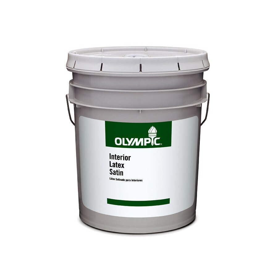 Olympic Clear Satin Latex Interior Paint (Actual Net Contents: 579-fl oz)