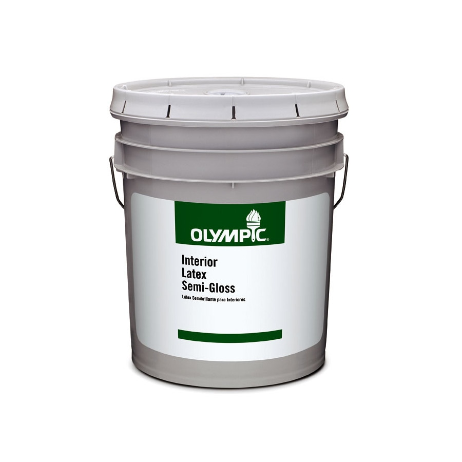 Olympic Clear Semi-Gloss Latex Interior Paint (Actual Net Contents: 579-fl oz)