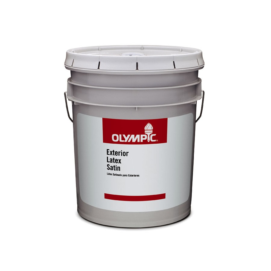 Shop Olympic Clear Satin Latex Exterior Paint Actual Net Contents 579 Fl Oz At
