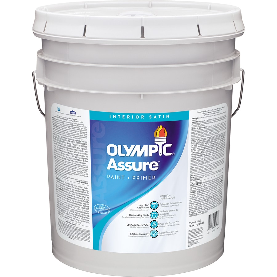 Olympic Assure Tintable Satin Latex Interior Paint and Primer In One Paint (Actual Net Contents: 620-fl oz)