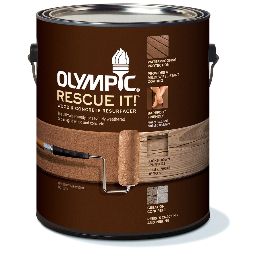 Olympic RESCUE IT! Rescue It Tintable White Restoration Textured Solid Exterior Stain (Actual Net Contents: 114-fl oz)