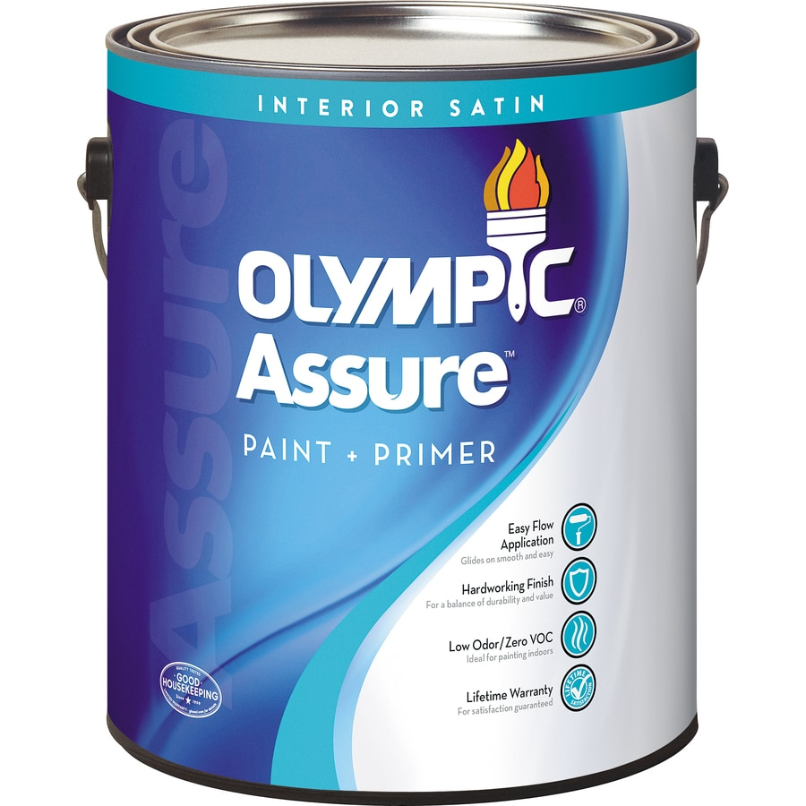 Olympic Assure Tintable Satin Latex Interior Paint and Primer in One (Actual Net Contents: 114-fl oz)