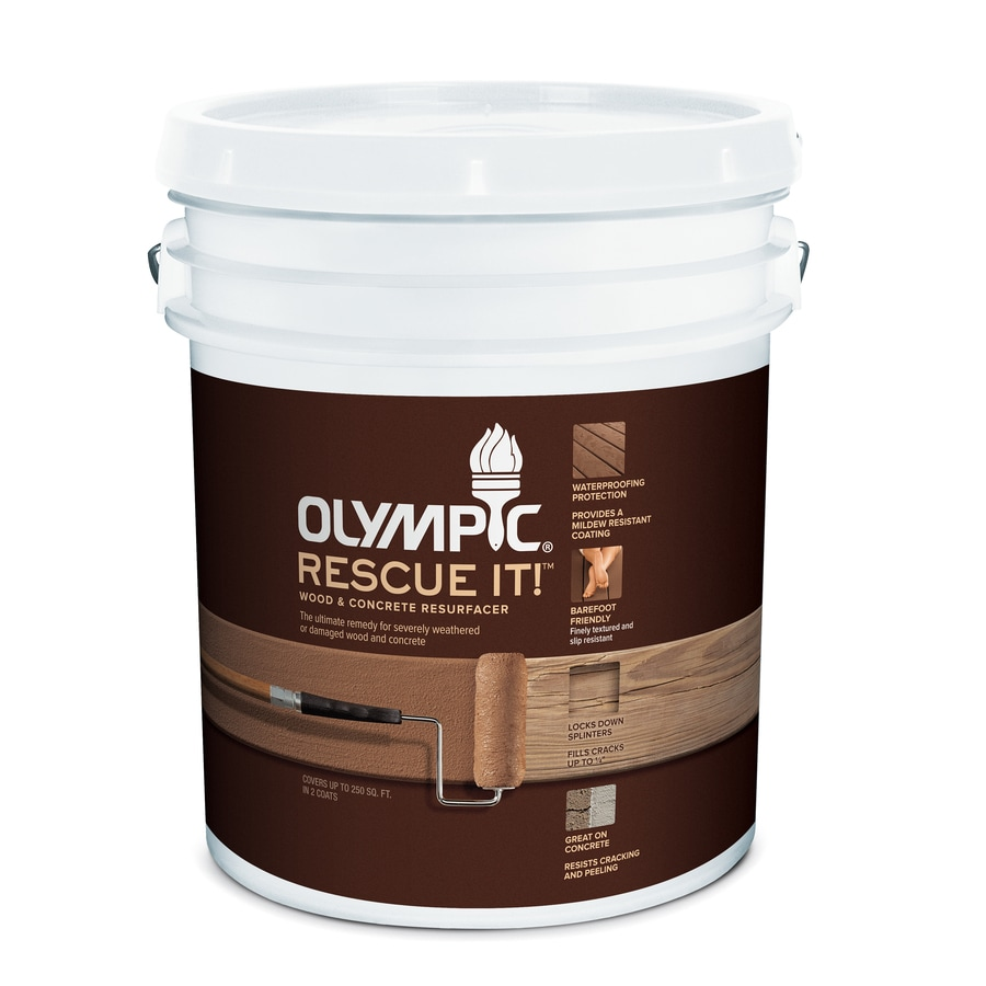 Olympic RESCUE IT! Tintable White and Restoration Textured Solid Exterior Stain (Actual Net Contents: 570-fl oz)