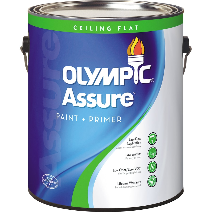 Olympic White Flat Latex Interior Paint And Primer In One Actual Net Contents 124 Fl Oz