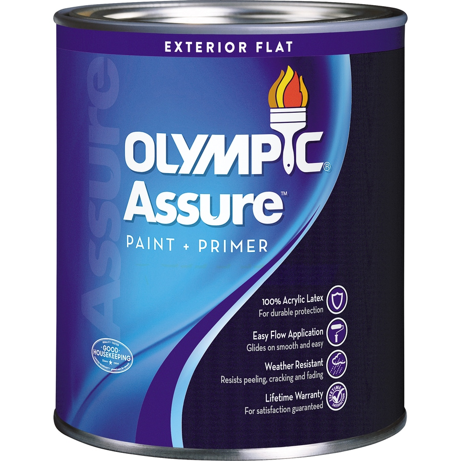 Olympic Assure Flat Acrylic Exterior Paint (Actual Net Contents: 31-fl oz)