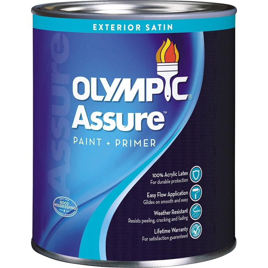 Olympic Assure Satin Acrylic Exterior Paint (Actual Net Contents: 31-fl oz)