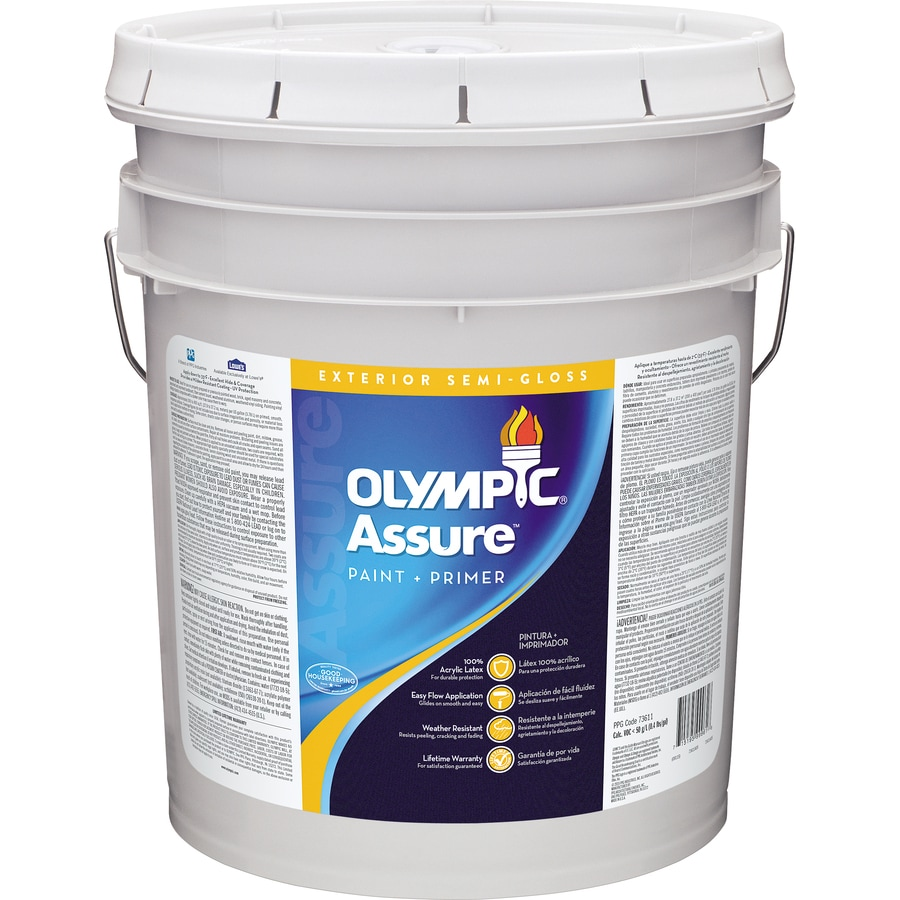 Shop Olympic Assure Semi Gloss Acrylic Exterior Paint Actual Net Contents 580 Fl Oz At