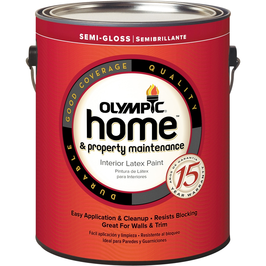 Olympic Home Tintable Semi Gloss Latex Interior Paint (Actual Net Contents:  124