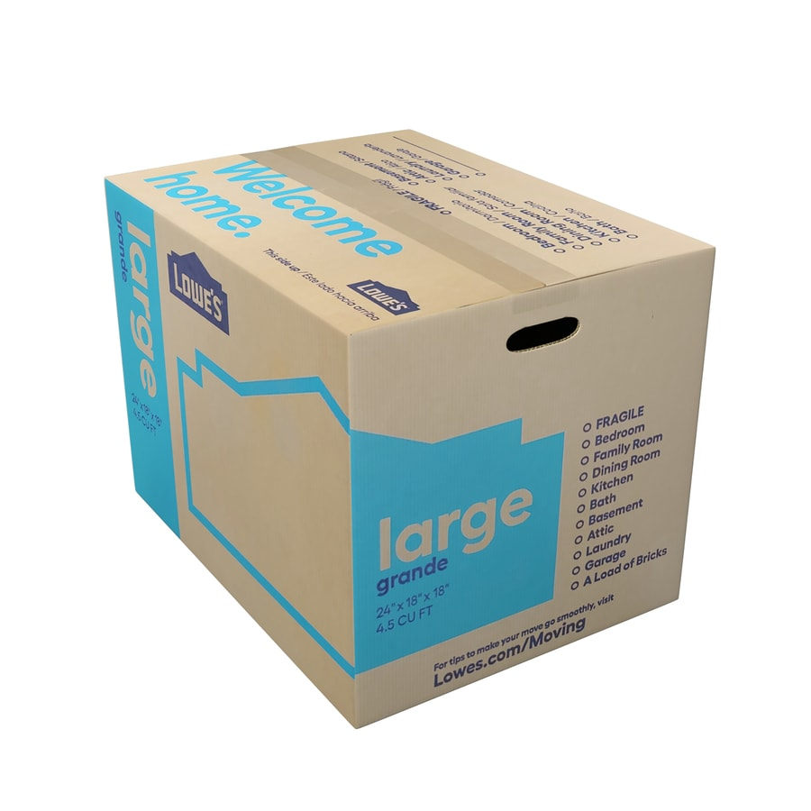 Large Cardboard Moving Box (Actual 18-in x 24-in)