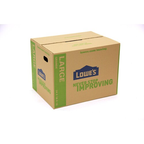 24 In W X 18 In H X 18 In D Moving Box Classic Large Cardboard Moving Boxes With Handle Holes In The Moving Boxes Department At Lowes Com