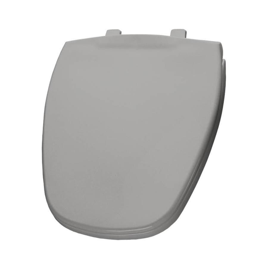 Bemis Silver Plastic Round Toilet Seat