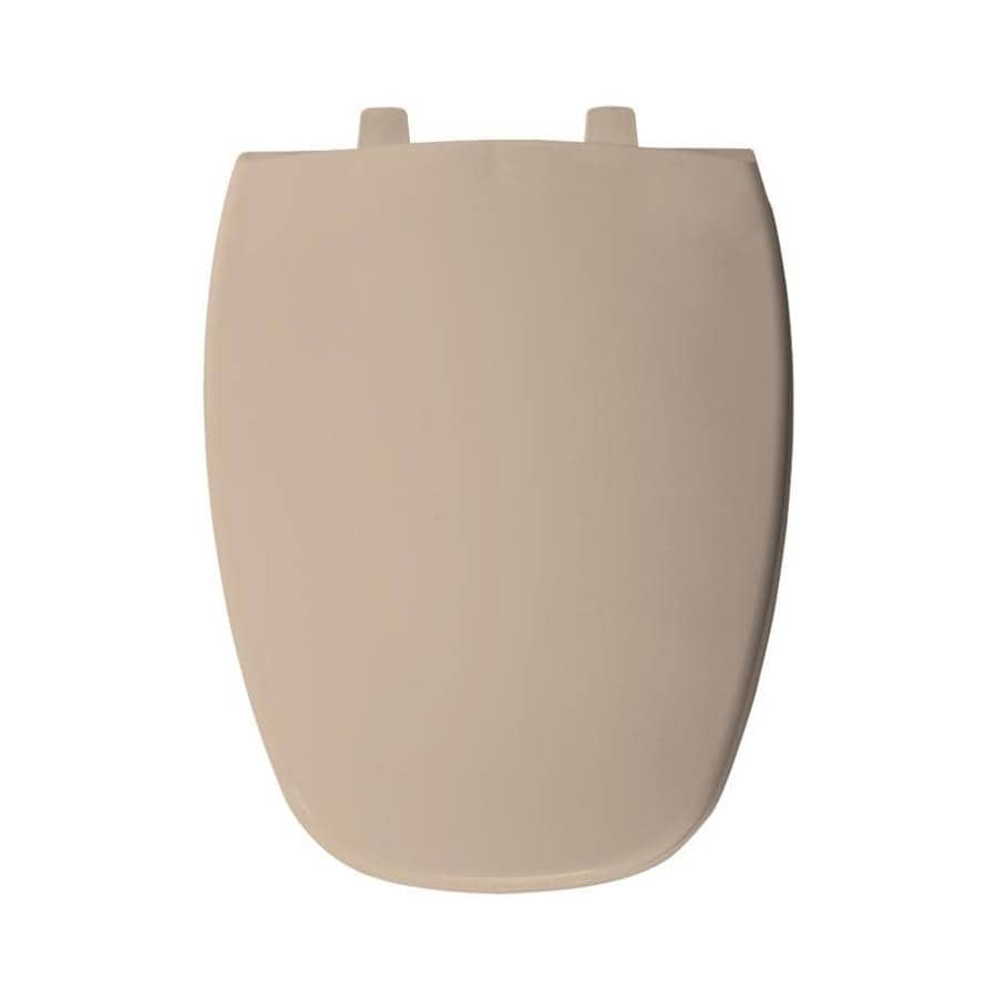Bemis Peach Bisque Plastic Elongated Toilet Seat