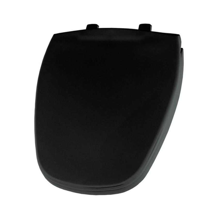 Bemis Black Plastic Round Toilet Seat